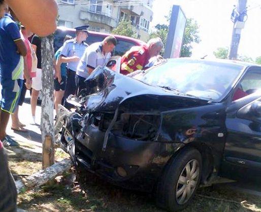 Accident in intersectia DN1A cu Strada Studioului