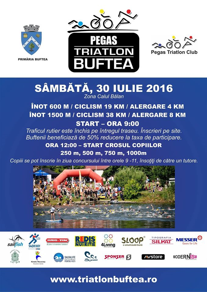 Sâmbătă, Pegas Triatlon Buftea 2016!