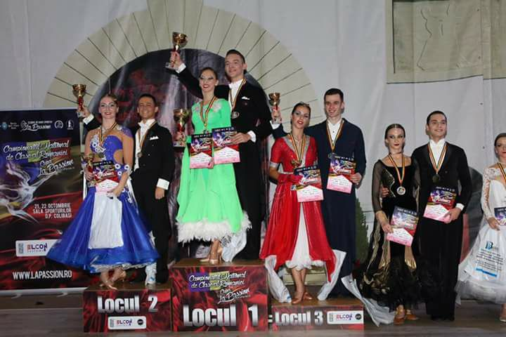 Cosmin Mirea si Andreea Florea de la clubul Zedan's din Buftea, campioni nationali la dans sportiv!