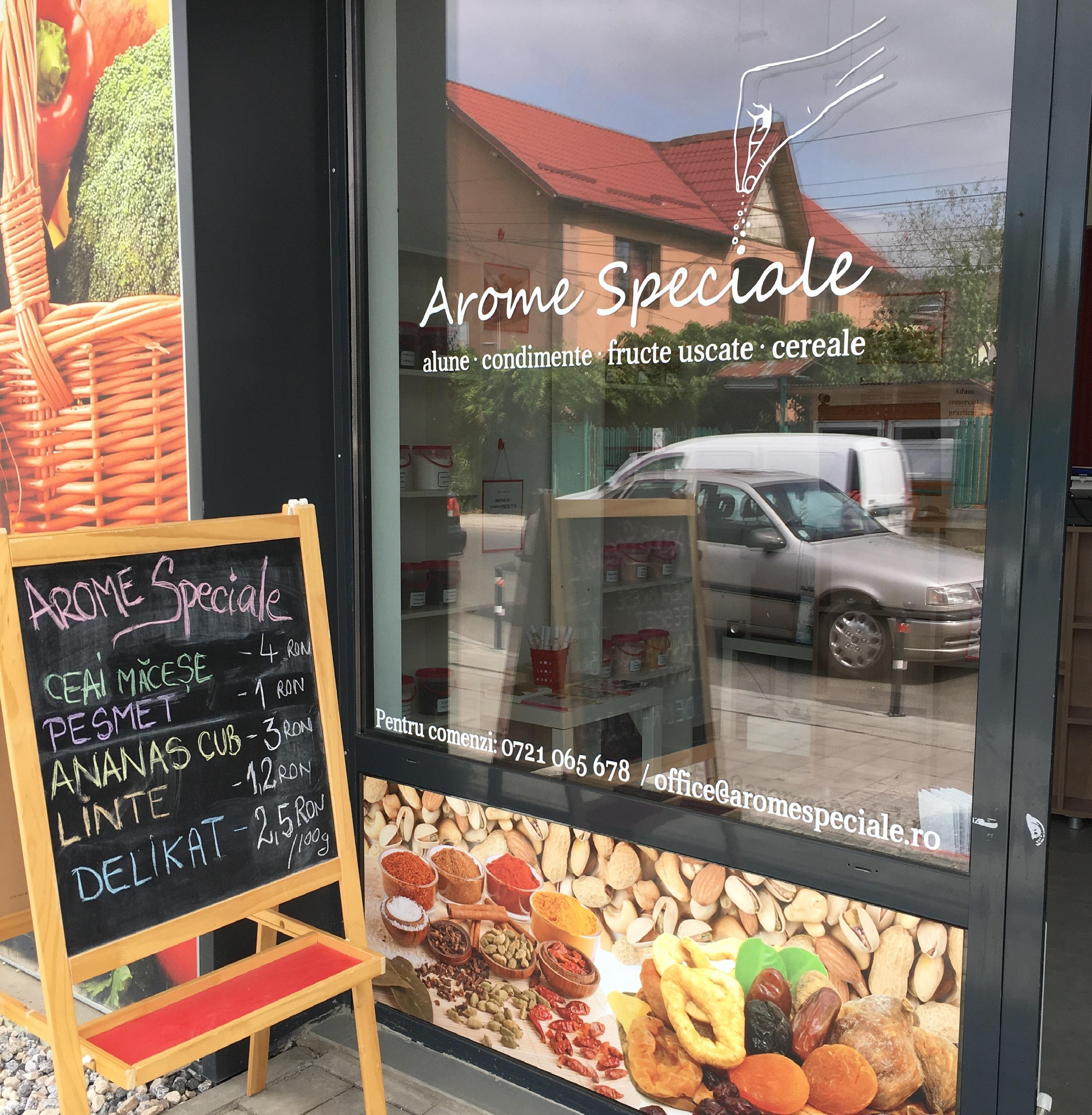 Arome Speciale, magazin unic deschis in Piața Buftea
