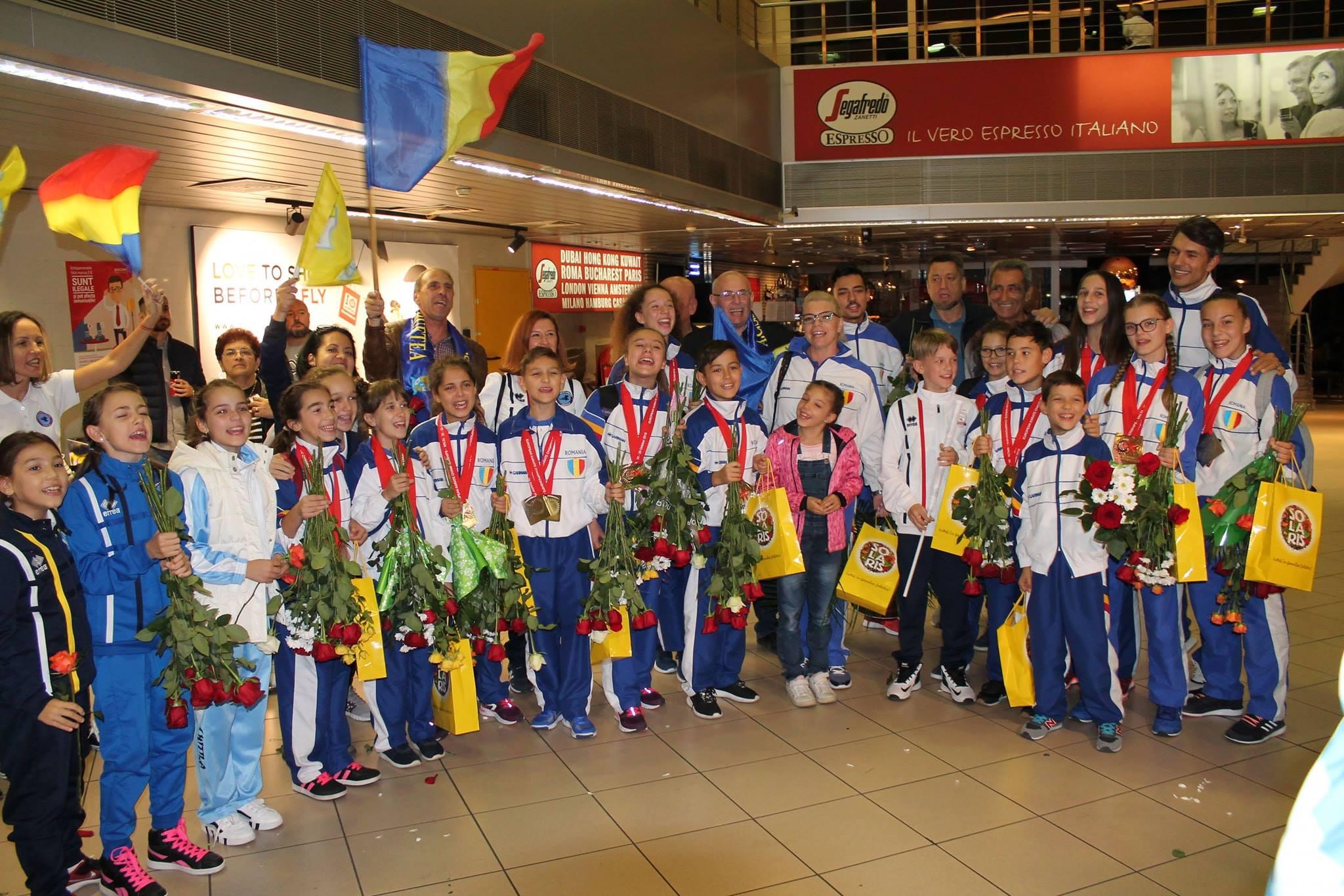 Exceptional! Micii bufteni de la Vointa Buftea, campioni europeni la karate!