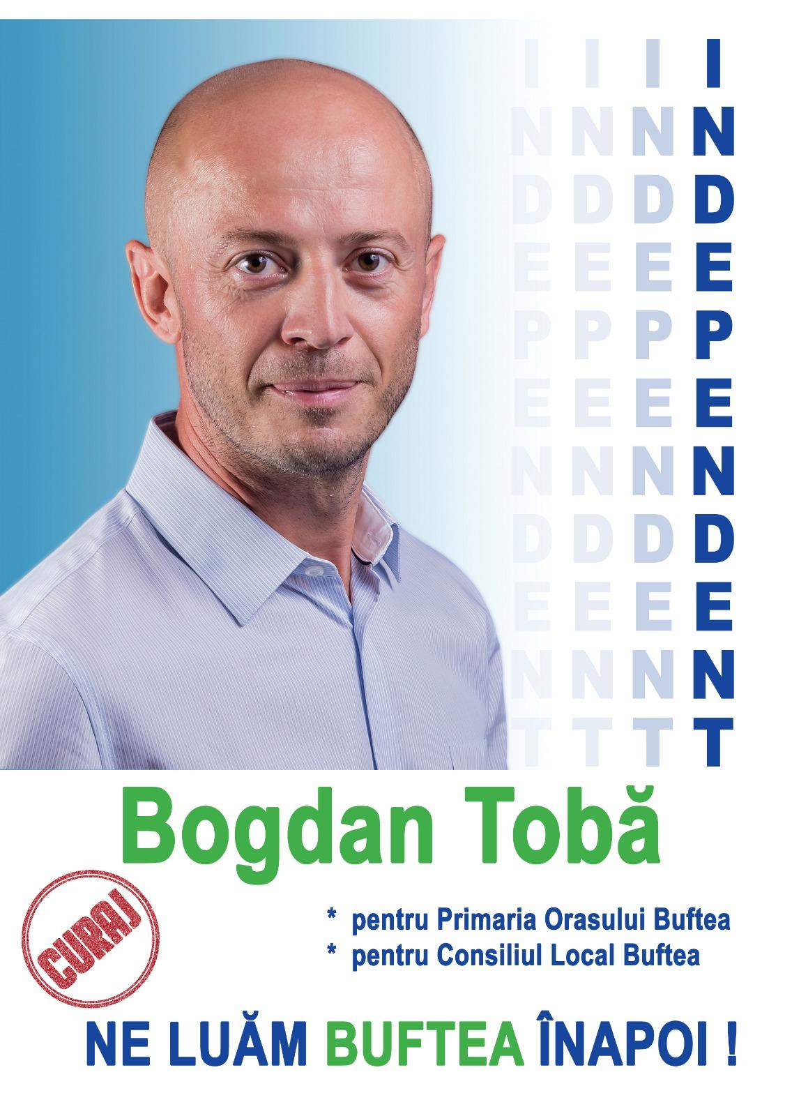 Proiect de candidatură - Bogdan Tobă  #100proiecte #pentruBuftea