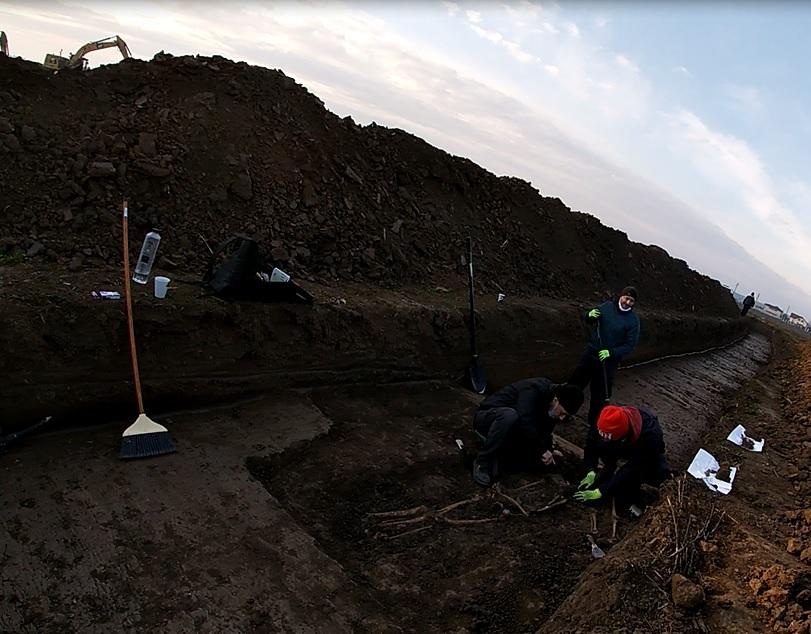 Moment istoric pentru Buftea! Cimitir medieval descoperit pe terenul primarului!